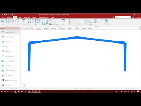 STEEL PORTAL FRAME DESIGN IN STAAD PRO CONNECT EDITION-PART1/3