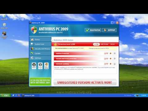 0 Antivirus PC 2009 Analysis and Removal