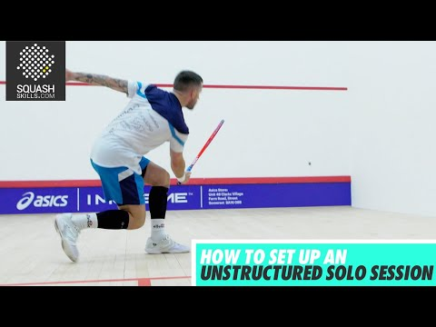 Squash tips: Unstructured Solo Session with Joey Barrington and Peter Creed