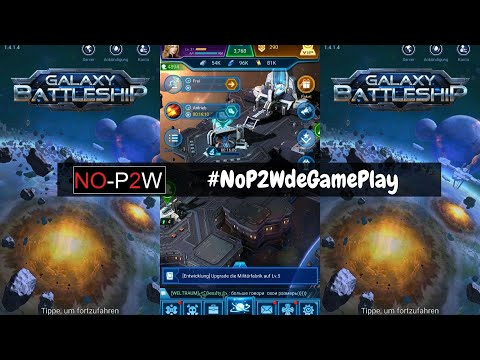 Galaxy Battelship GamePlay Deutsch