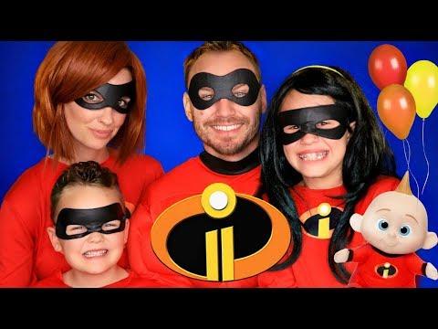 Disney Pixar Incredibles 2 Party Mr. Incredible, Elastigirl, Violet, Dash, and Jack Jack Costumes!