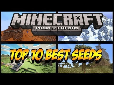 TOP 10 BEST SEEDS – MINECRAFT PE 0.9.0/0.9.5 – ALL NEW BIOMES!!!