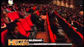 Kurdsat Kurdistan Bashur Rojhalat Roozbeh Hani Kurdish Singer Consert In Slemani The Other Iraq