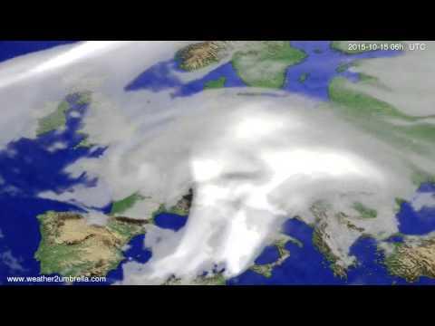 Cloud forecast Europe 2015-10-12