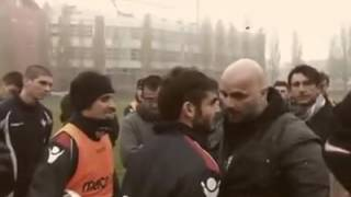 Piacenza Italy  city pictures gallery : Ultras Capo of Piacenza (Italy) confronting with players after losing in Derby