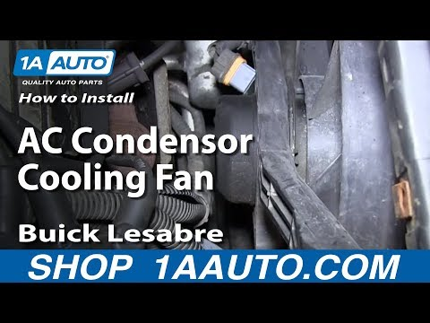 How To Install Replace AC Condensor Cooling Fan 1992-99 Buick Lesabre Pontiac Bonneville