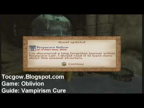Oblivion - Quick Vampirism Cure Tutorial