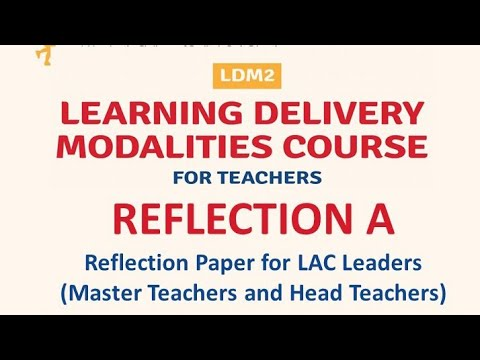 LDM2 REFLECTION-A FOR LAC LEADERS ( MT & HT )