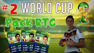 FIFA 14 : Ultimate Team World Cup - Pack RTG #2 - MEGA PACK OPENING! [FACECAM]