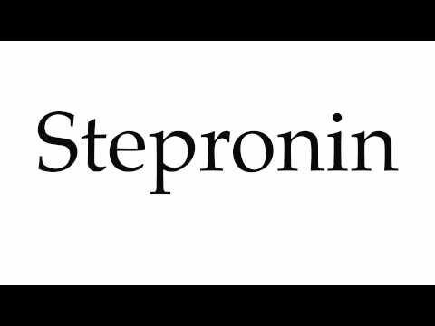 How to Pronounce Stepronin