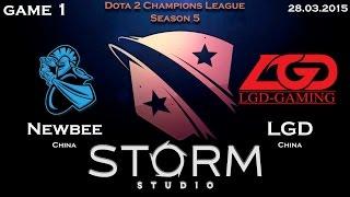 NewBee vs LGD.cn, game 1