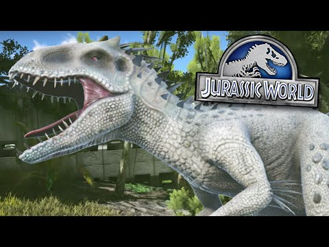 INDOMINUS REX ENCLOSURE! - Jurassic World - Ark Survival Evolved MOD | Ep 1
