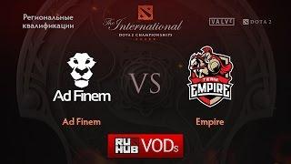 Empire vs Ad Finem, game 1