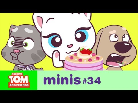 Talking Tom and Friends Minis - Angela's Pink Cake (Episode 34) (видео)