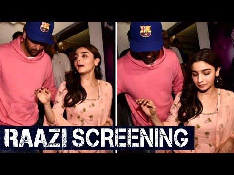 RAAZI Special Screening | Rumored Lovers Alia Bhat