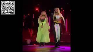 Lady Leshurr performing with Nicki Minaj