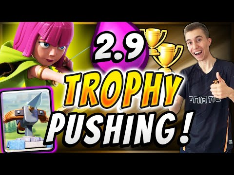 MY FAVORITE LADDER DECK! Trophy Pushing W/ 2.9 Xbow Cycle Deck — Clash Royale