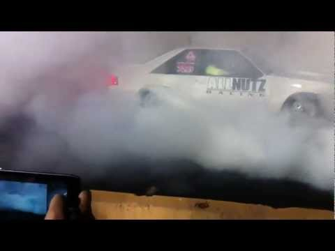 KRP Burnout Competition with fire