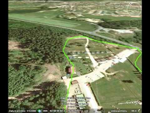 Letecký pohled na Holiday Park Liščí Farma