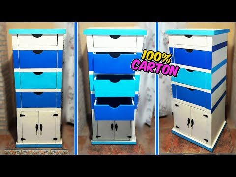Video Awesome crafts that you can do with cardboard -  filing cabinet with drawers DIY - Mr. DIY download in MP3, 3GP, MP4, WEBM, AVI, FLV January 2017