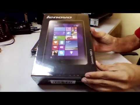Lenovo Miix 3 8″ and Folio Case Unboxing