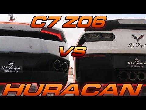 c7 corvette z06 vs lamborghini huracan
