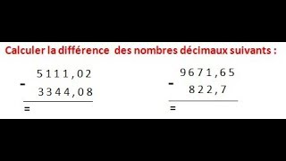 Maths 6ème - Les opérations : Addition Soustraction Multiplication Division Exercice 5