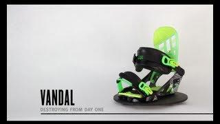 K2 Vandal Snowboard Bindings - Boy's 2014