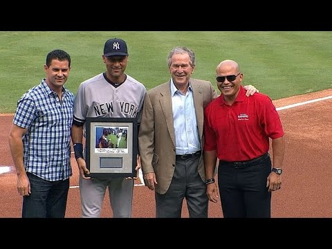 president - 7/30/14: President George W. Bush surprises Derek Jeter during the Rangers' pregame ceremony honoring the captain Check out http://m.mlb.com/video for our full archive of videos, and subscribe...