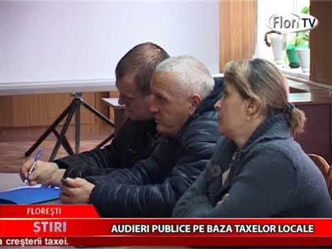 Audieri publice pe baza taxelor locale
