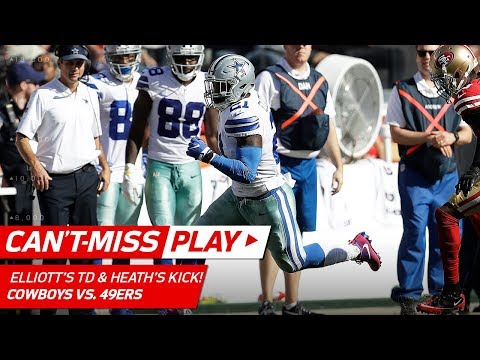 Video: Ezekiel Elliott's 72-Yd TD & Safety Jeff Heath Kicks the Extra Point! | Can't-Miss Play | NFL Wk 7