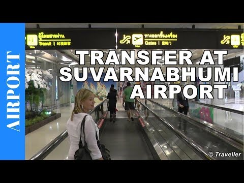 Suvarnabhumi Airport in Bangkok – transit walk to Bangkok Airways connection flight to Koh Samui