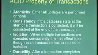 Lecture - 27 Introduction to Transaction Recovery