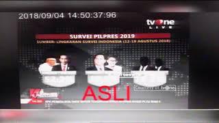 Download Video Berita tvOne Soal Hasil Survei Pilpres 2019 Dipalsukan MP3 3GP MP4