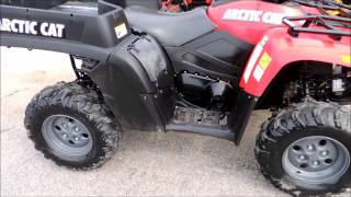 10. 2007 Arctic Cat 650 w bed red