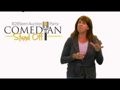 BMA B2BSeen Auction & Party: Comedian Stand Off -- Gretchen Hess Says Register Today!