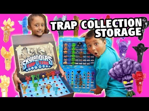 Skylanders Trap Team TRAPS Storage Case + Collection (Custom Holder) ALL WAVE 1 & 2