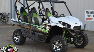 10. SALE $13,699:  2017 Kawasaki Teryx4 EPS LE Metallic Stardust White Overview and Review
