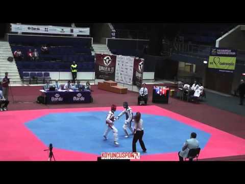 68kg Daniel NECHIFOR (ROU) vs (AND) RUIZ, Boris (-21 European TKD Championships 2015) (видео)