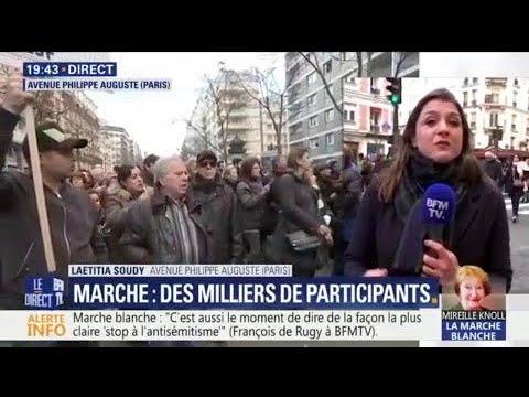 Marche en hommage à Mireille Knoll: ce que l'on sait sur l'exfiltration de Marine Le Pen