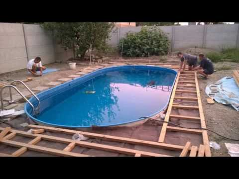 stavba bazénu , bazén Mountfield IBIZA 2-150 DL - Swimming Pool Installation summer 2016, 1080p (видео)