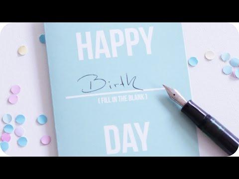 DIY | Die Karte für jeden Anlass | Geburtstag | Geburtstagskarten | Geschenkideen | chestnut!