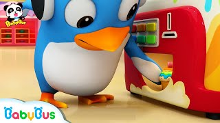 Video What's in Cake Vending Machine? | Ice Cream, Donuts Song, Learn Colors | BabyBus Song MP3, 3GP, MP4, WEBM, AVI, FLV Desember 2018