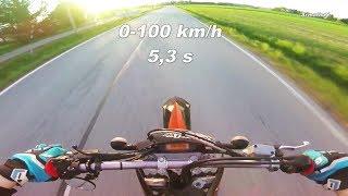 8. KTM 450 EXC 0-100 km/h