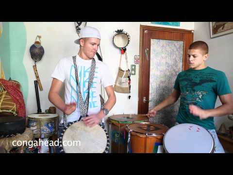 Djembe and Timbao duet