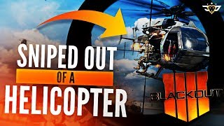 SNIPED OUT OF A HELICOPTER?! MY BEST BLACKOUT GAME EVER! (Call of Duty: Blackout)