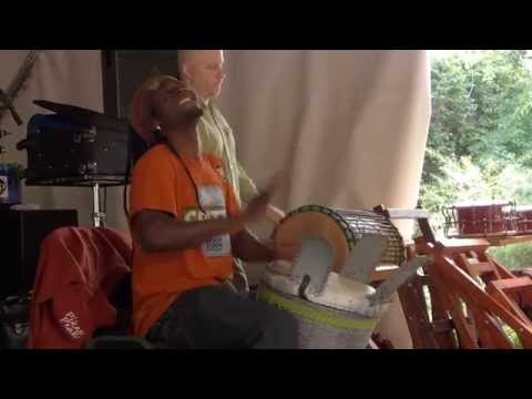 Ibro & Sanke Percussion Group teach drumming djembe