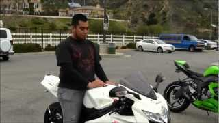10. My First Time Riding Suzuki GSX-R750 Customized SportBike Motorcycle Review First Impression GIXXER