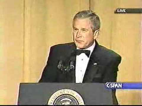 George Bush at White House Correspondents Dinner