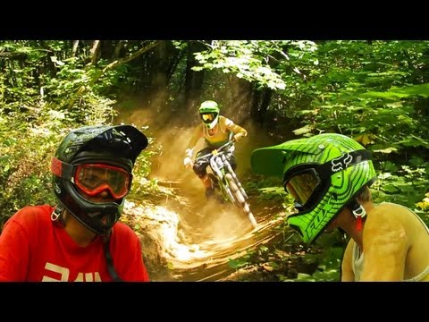 Biking - Who doesn't love blasting through sick berms!? Ryan Van Kampen and Wyatt Griffioen get their shred on at the local downhill freeride trails! Ryan and Wyatt a...